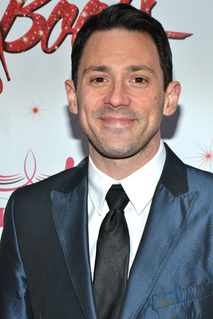 Tony Award winner Steve Kazee (<i>Once</i>) checks out the Great White Way's latest opening night.<br />(© David Gordon)