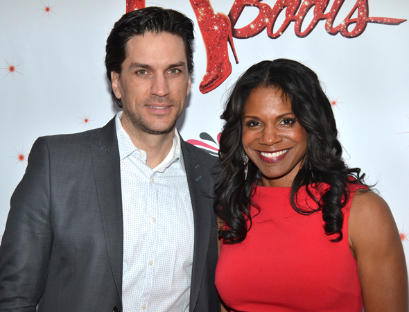 Theater power couple Will Swenson and Audra McDonald spend some quality time at <i>Kinky Boots</i>.<br />(© David Gordon)