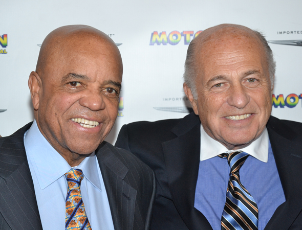 <i>Motown: The Musical</i>'s proud producers: Motown founder Berry Gordy and Sony Music Entertainment CEO Doug Morris.<br />(© David Gordon)