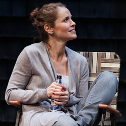 Amy Brenneman as Catherine in the Playwrights Horizons production of <i>Rapture, Blister, Burn</i>.