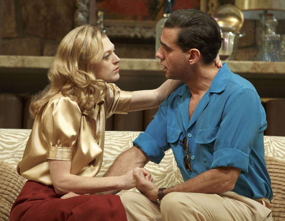 Marin Ireland Bobby Cannavale in a scene from <i>The Big Knife</i> at the American Airlines Theatre
