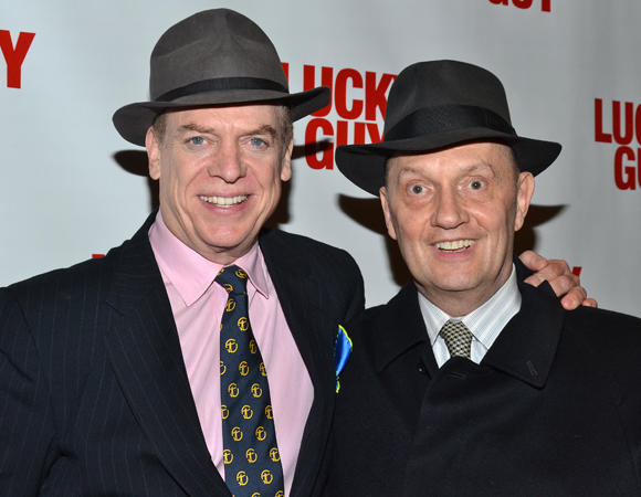 Christopher McDonald and Eddie Hayes at the opening of Broadway's <i>Lucky Guy</i>.