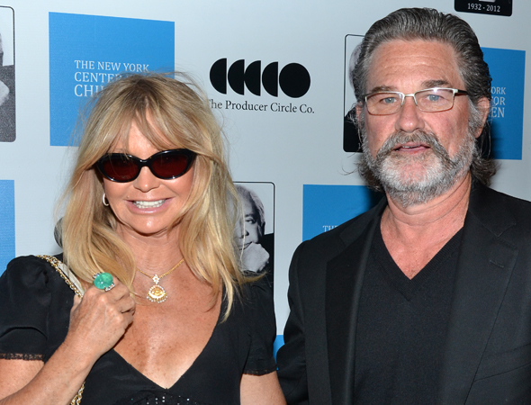 Celebrity couple Goldie Hawn and Kurt Russell are looking Hollywood chic as always.<br />(© David Gordon)