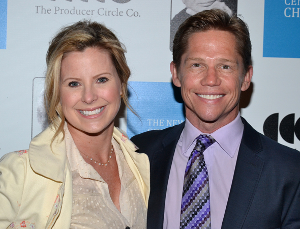 Broadway pals Michelle Kittrell and Jack Noseworthy were also on hand to commemorate the life of Marty Richards.<br />(© David Gordon)