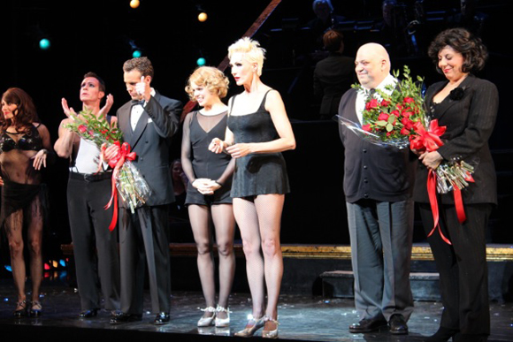 The cast of Broadway's <i>Chicago</i> at curtain call.<br />(© Erica Anker)