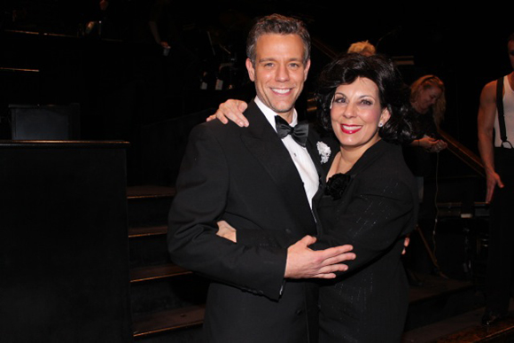 Adam Pascal and Christine Pedi celebrate their first night in Broadway's <i>Chicago</i>.<br />(© Erica Anker)