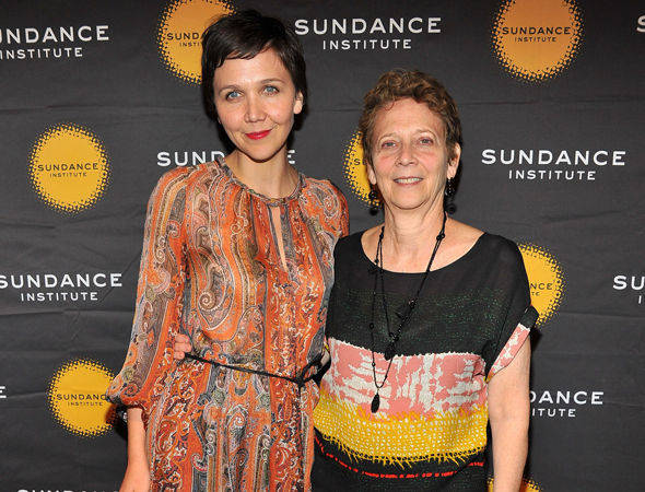 Maggie Gyllenhaal attends the gala with her mother, Naomi Foner Gyllenhaal.<br />(© Theo Wargo/WireImage)
