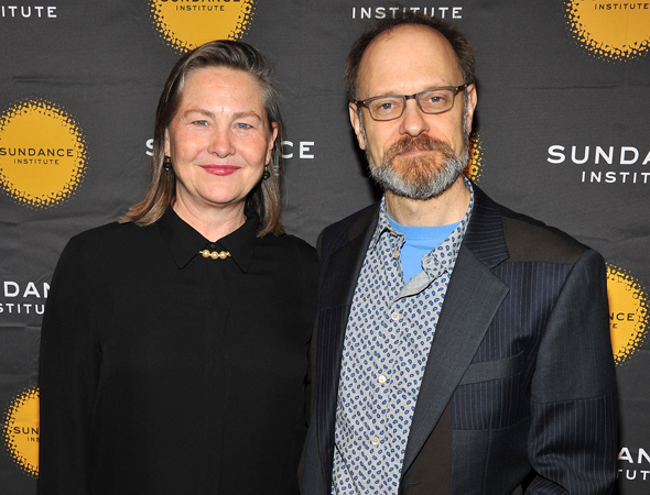 Cherry Jones and David Hyde Pierce were among the theater celebrities on hand for the evening.<br />(© Theo Wargo/WireImage)
