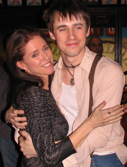 Julie Taymor with Broadway's Peter Parker, Reeve Carney.