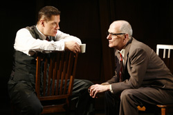 Robert Krakovski and Patrick Husted in the 2007 Off-Broadway production of <I>Bill W. and Dr. Bob</I>.