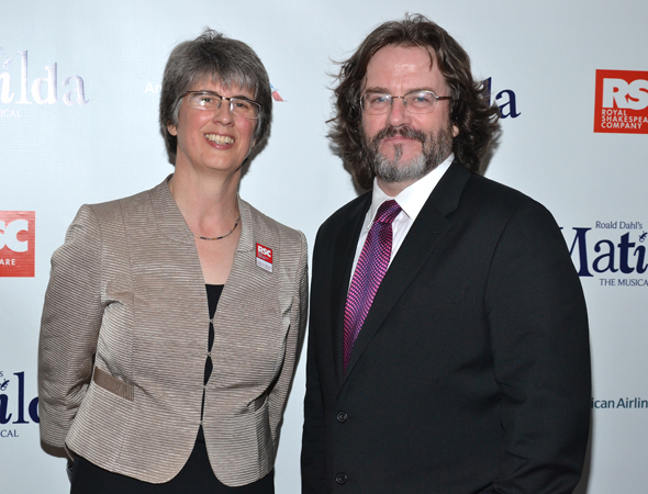 Royal Shakespeare Company executive director Catherine Mallyon and artistic director Gregory Doran are thrilled to shepherd <i>Matilda</i> to Broadway.<br />(© David Gordon)