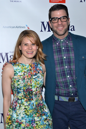 Celia Keenan-Bolger and Zachary Quinto pose for a <i>Glass Menagerie</i> family photo.<br />(© David Gordon)