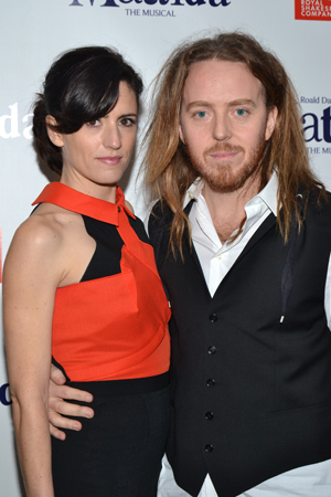 <i>Matilda</i> composer/lyricist Tim Minchin shares a photo with his proud wife, Sarah.<br />(© David Gordon)