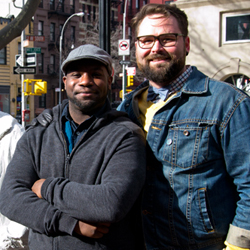 <i>Hit the Wall</i> playwright Ike Holter and director Eric Hoff