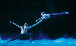Barnaby Meredith and Ryan Collinson in <i>Billy Elliot the Musical</i>