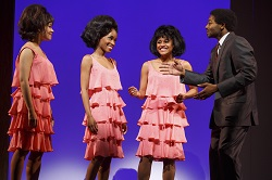 Sydney Morton, Valisia LeKae, Ariana DeBose, and Brandon Victor Dixon in <i>Motown: The Musical</i>