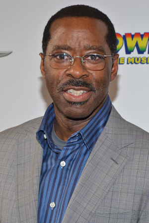 On a night off from <i>Lucky Guy</i>, Courtney B. Vance takes in a splashy new musical.<br />(© David Gordon)