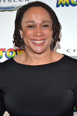 S. Epatha Merkerson is on hand to support her pal, <i>Motown</i> costume designer ESosa.<br />(© David Gordon)