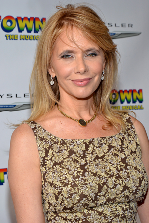 Rosanna Arquette shows her support for Broadway's newest musical.<br />(© David Gordon)