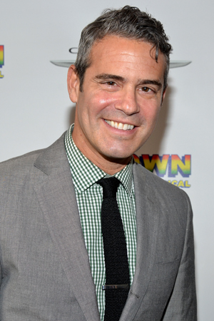 Bravo's Andy Cohen is ready for a night out at <i>Motown</i>.<br />(© David Gordon)
