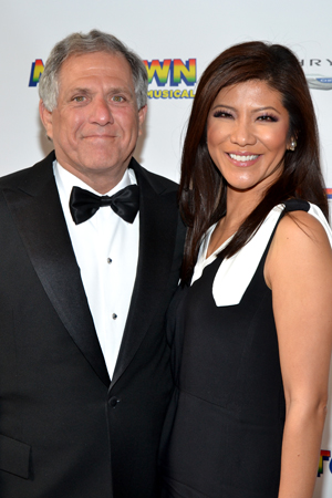 CBS head honcho Les Moonves and his wife, Julie Chang, are dressed to the nines.<br />(© David Gordon)