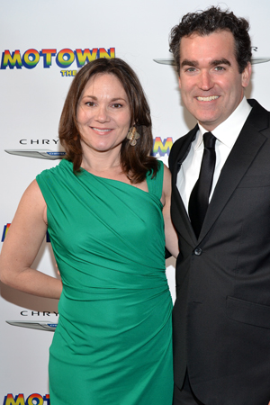 Jennifer Prescott and Brian d'Arcy James smile for the camera.<br />(© David Gordon)