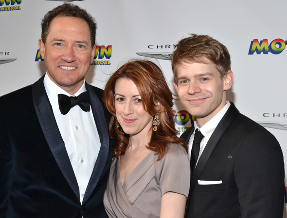 <i>Motown</i> producer Kevin McCullum joins <i>Submissions Only</i> stars Kate Weatherhead and Andrew Keenan-Bolger for a photo.<br />(© David Gordon)