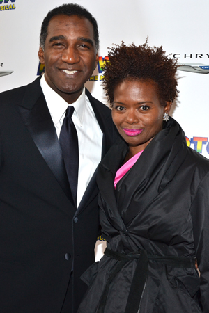 Broadway pals Norm Lewis and LaChanze are each other's dates for the evening.<br />(© David Gordon)