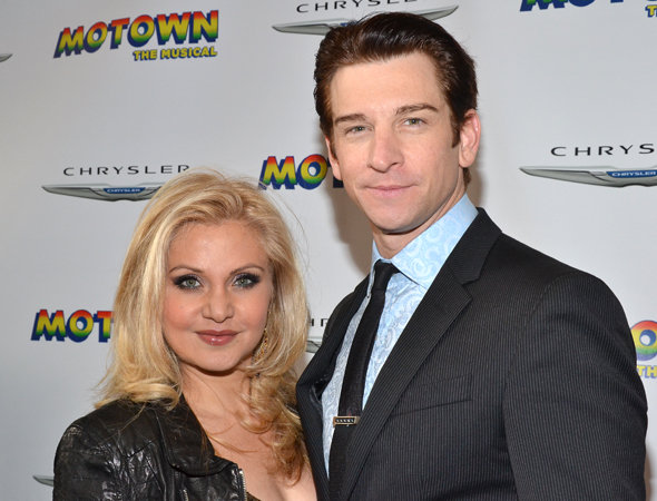 Broadway vets Orfeh and Andy Karl get close for the camera.<br />(© David Gordon)