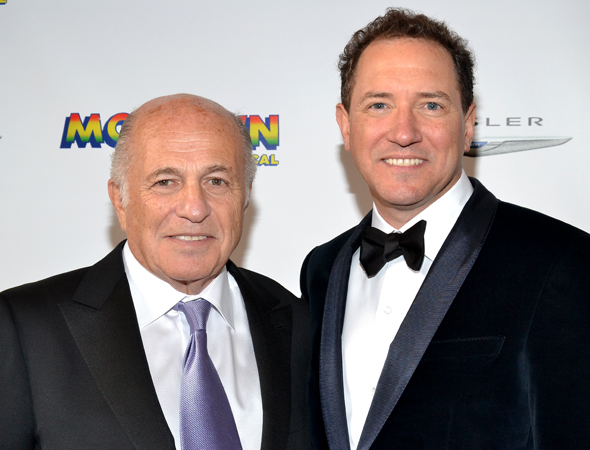 Based on <i>Motown</i>'s strong preview box office  numbers, producers Doug Morris and Kevin McCollum have plenty of reasons to smile. <br />(© David Gordon)