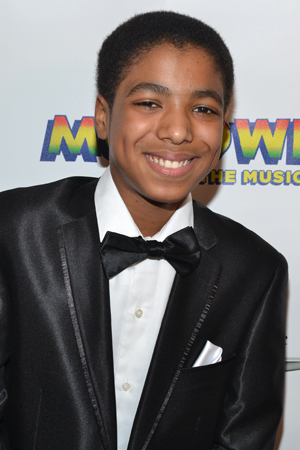 Jibreel Mawry has the daunting triple role of young Berry Gordy, Michael Jackson, and Stevie Wonder. <br />(© David Gordon)