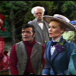 Robert Goulet, Charlie Ruggles, and Mary Grover, in the 1967 TV version of Carousel