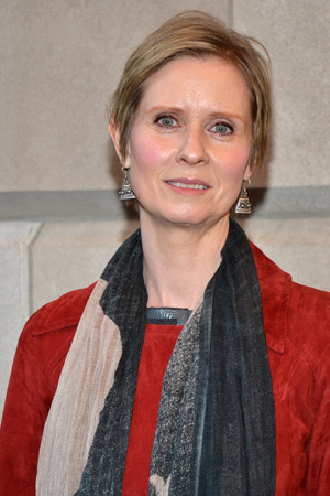 Cynthia Nixon is never one to miss a Broadway opening night.<br />(© David Gordon)