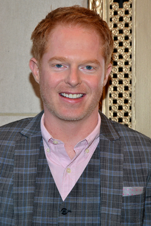 Jesse Tyler Ferguson is on hand for the opening night of his <i>Modern Family</i> pal, Nathan Lane.<br />(© David Gordon)