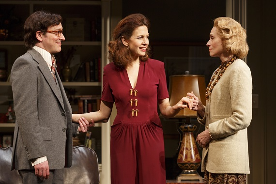 Jeremy Shamos, Jessica Hecht, and Judith Light in <i>The Assembled Parties</i>