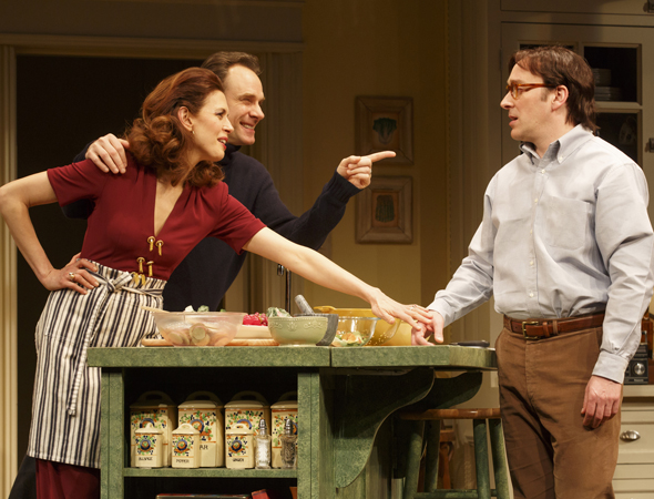 Jessica Hecht, Jonathan Walker, and Jeremy Shamos   <br />© Joan Marcus