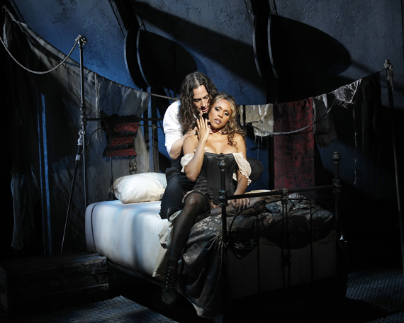 Constantine Maroulis and Deborah Cox in <I>Jekyll & Hyde</I>.