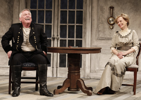 Daniel Davis and Laila Robins in <I>The Dance of Death</I>.