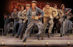The cast of the Broadway production of <i>The Scottsboro Boys</i>.
