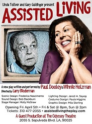 Artwork for <I>Assisted Living</I> at the Odyssey Theatre in Los Angeles.