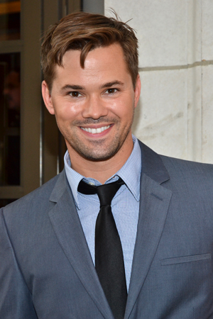 On hiatus from NBC's <i>The New Normal</i>, Tony Award nominee Andrew Rannells checks out a Broadway show.<br />(© David Gordon)