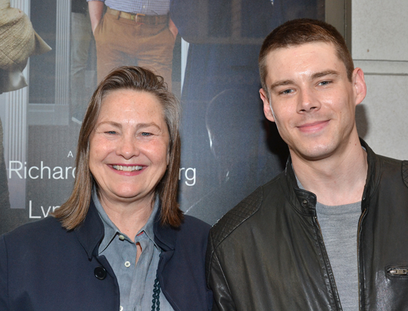 As her date for the evening, Cherry Jones, who won a Tony Award for her work as a staunch nun in MTC's <i>Doubt</i>, brought along her recent <i>Glass Menagerie</i> Gentleman Caller, Brian J. Smith.<br />(© David Gordon)