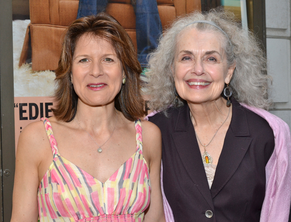 While her husband, actor Jonathan Walker, opens his Broadway show, stage veteran Jennifer Van Dyck and fellow-Broadway star Mary Beth Peil share some quality time.<br />(© David Gordon)
