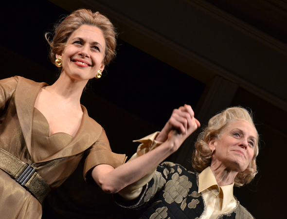 Jessica Hecht and Judith Light take their opening night curtain call.<br />(© David Gordon)