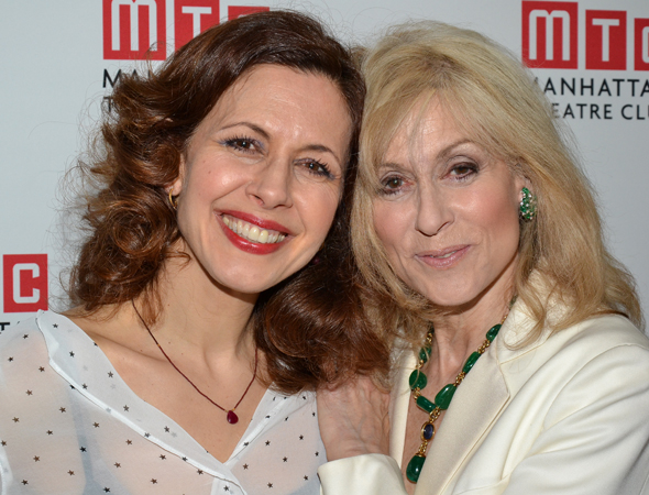 Jessica Hecht and Judith Light play sisters-in-law Julie and Faye Bascov.<br />(© David Gordon)