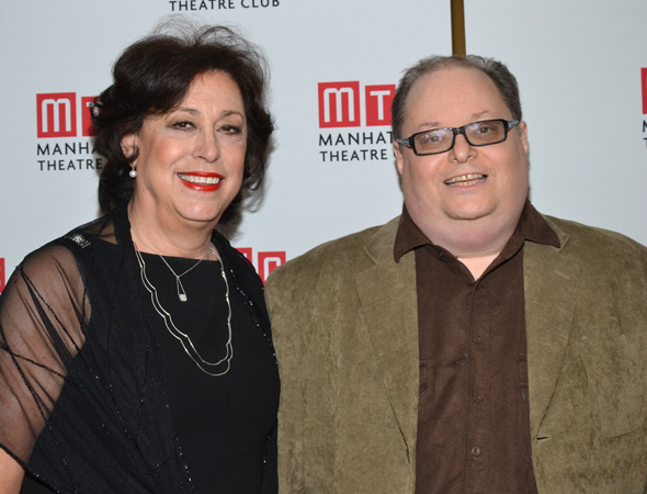 The proud creative minds behind <i>The Assembled Parties</i>: director Lynne Meadow and playwright Richard Greenberg.<br />(© David Gordon)