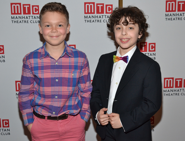 The youngest cast members of <i>The Assembled Parties</i>: Alex Dreier (right) and understudy Stephen McGahan (left).<br />(© David Gordon)
