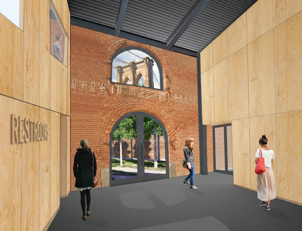 An image of the future vestibule<br />© Rogers Marvel Architects PLLC.