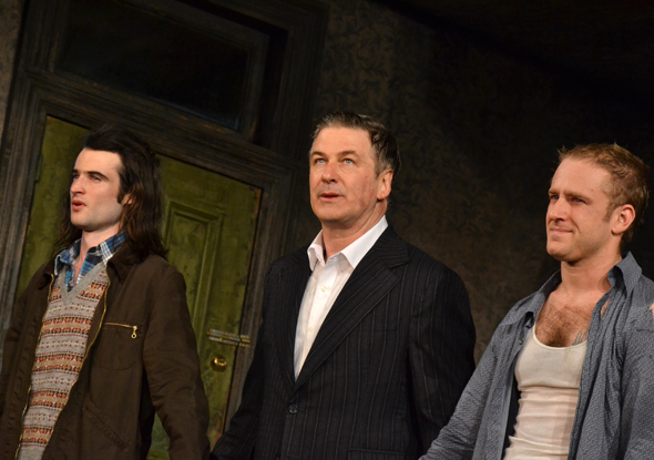 The gentlemen of <i>Orphans</i> take their curtain call.<br />(© David Gordon)