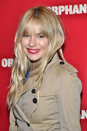 Sienna Miller is proud to cheer on her fiancé, <i>Orphans</i> star Tom Sturridge.<br />(© David Gordon)